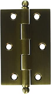 Deltana CH3020U5 Solid Brass 3-Inch x 2-Inch Cabinet Hinge with Ball Tips