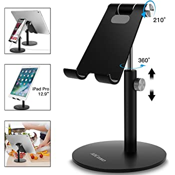 Swhatty Cell Phone Stand Universal Tablet Dock Rose Gold Angle Height Adjustable Sturdy All Aluminum Alloy Stable Phone Holder for Desk Compatible with Mobile Phone//iPad 4.7-12.9 Screen