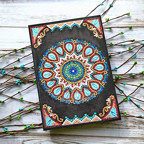 HuaCan 5D DIY Diamond Painting Cover Notebook A5 60 Pages Flower Journal for Journaling Writing Note Taking Diary and Planner Christmas Birthdays Gift