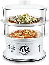 Légumes 2-couche à vapeur for la minuterie de cuisine, de grande capacité électrique des aliments, la viande et de légumes...