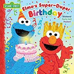 Image: Elmo's Super-Duper Birthday (Sesame Street), by Naomi Kleinberg (Author), Joe Mathieu (Illustrator). Publisher: Random House Books for Young Readers; Stk Pap/Ps edition (December 6, 2016)