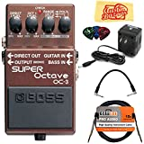 Boss OC-3 Super Octave Bundle with Power Supply, Instrument Cable, Patch Cable, Picks, and Austin Bazaar...