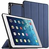 EasyAcc Hülle für iPad Air, Ultra Slim Hülle Hülle Schutzhülle PU Lederhülle mit Standfunktion/Auto Sleep Wake Up Funktion Kompatibel für iPad Air 2013 (Modellnummer A1474 A1475 A1476) - Dunkelblau