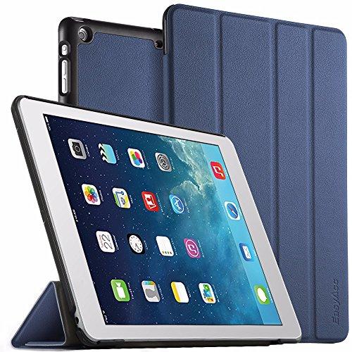 EasyAcc Hülle Kompatibel mit iPad Air, Ultra Slim Hülle Case Schutzhülle PU Lederhülle mit Standfunktion/Auto Sleep Wake Up Funktion Kompatibel mit iPad Air 2013 (A1474 A1475 A1476) - Dunkelblau