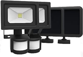 COB 太阳能灯,VIVII 太阳能灯,户外太阳能*照明,防水 IP65,暖白色灯,适用于家庭花园草坪泳池庭院车道,学校别墅*店,2 件装