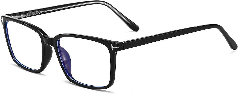 Square Blue Light Blocking Glasses Computer Reading Gaming Glasses Clear Lens TR90 Eyeglasses Frame