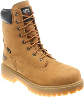 Men's Steel Toe Insulated Logger Work Boots Wheat Brown 8