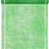 PARTY DISCOUNT Tischläufer Fußballfeld, 30cm x 5m grün, 1 STK
