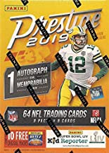 2019 Panini PRESTIGE Football Series Unopened Blaster Box of Packs with One Autograph or EXCLUSIVE Memorabilia and 8 Rookie Card