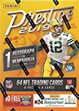 2019 Panini PRESTIGE Football Series Unopened Blaster Box of Packs with One Autograph or EXCLUSIVE Memorabilia and 8 Rookie Cards in EACH Box