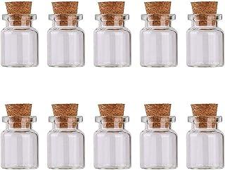 Bouteille en verre NiceCore 5ml Mini Jars avec Bouchonnières Bouteilles en verre d'échantillons pour le bricolage mariage ...