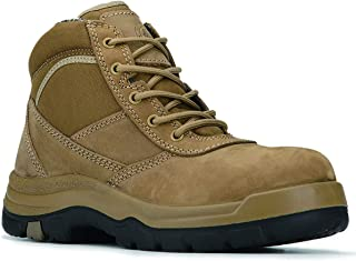 Cortez Steel Toe Men's Work Boots, Slip Resistant Safety...