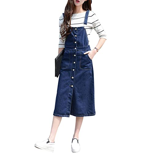 a48d9273f97 Denim Jumper Dresses: Amazon.com