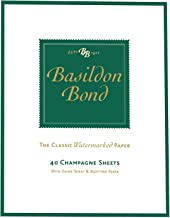 Basildon Bond Writing Notepad Champagne Sheets - Watermarked - 40 Sheets=80 Pages - Size 178mm X 137mm (7 X 5.4)