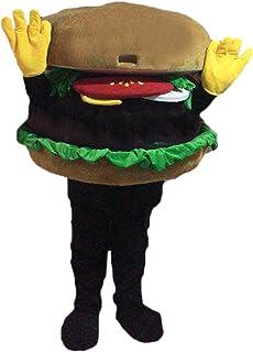 Langteng Hamburgare tecknad maskot kostym äkta bild 15-20 dagar leverans märke