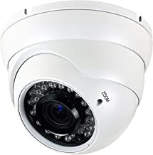 Analog CCTV Camera HD 1080P 4-in-1 (TVI/AHD/CVI/CVBS) Security Dome Camera, 2.8mm-12mm Manual Focus/Zoom Varifocal Lens, Weatherproof Metal Housing 36 IR-LEDs Day & Night Monitoring (White)