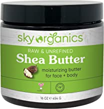Shea Butter by Sky Organics (16 oz) 100% Pure Unrefined Raw African Shea Butter for Face and Body Moisturizing Natural Bod...
