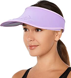 Womens Sun Visor Sports Hat Running Golf Jogging Tennis Hiking Cap with Retractable Pull Plate