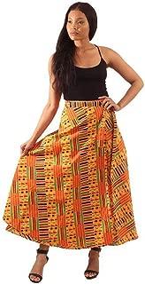 African Kente Print Wrap Skirt - Pattern 1 Yellow