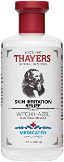 Thayers Medicated Skin Irritation Relief Witch Hazel with Aloe Vera, 12 oz bottle