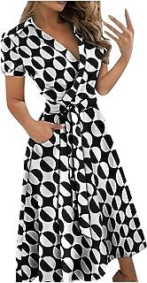 SLENDIPLUS Vestido longo feminino com decote em V e estampa de renda, justo, envelope, quadris, vestido longo de verão com...