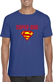 Superman Super Dad T-Shirt Quote - Comfortable 100% Cotton tee