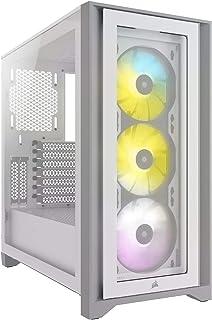 CORSAIR iCUE 4000X RGB 強化ガラス製ミドルタワー ATX PCケース ホワイト CC-9011205-WW CS7978