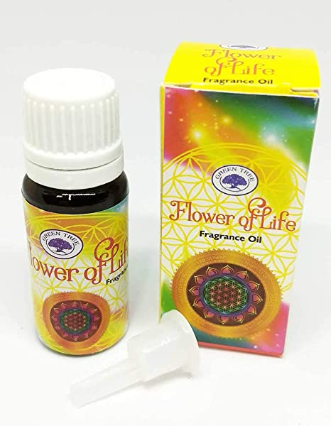 Fragrance Oil By Green Tree 10ml Per Container Flower Of Life