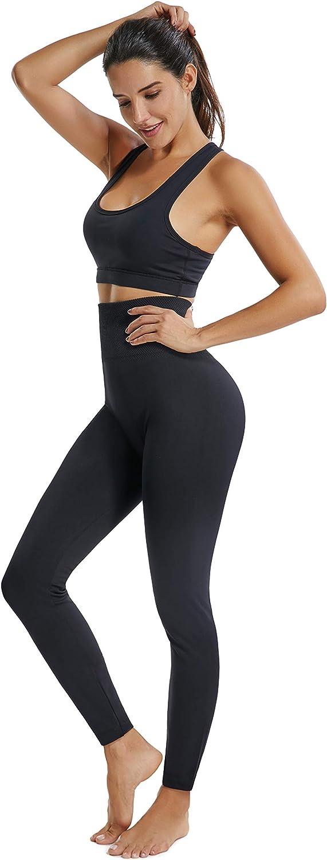 Fleece Lined Leggings for Women High Waisted Thermal Leggings Tummy Control Seamless Warm Winter Leggings for Women