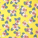 Fabulous Fabrics Chiffon Hibiskusblüten – gelb —
