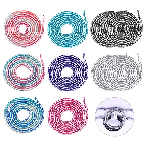 KINDOYO 110 cm Protectores de Cable - Universal Protectores Cable de Alambre...