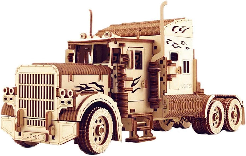 solo para ti LhCoche Rompecabezas de Madera 3D Modelo de camión Pesado Pesado Pesado Modelo de Madera contrachapada Modelo de Bricolaje - Juguetes ecológicos de Madera Modelo Boy  mejor reputación