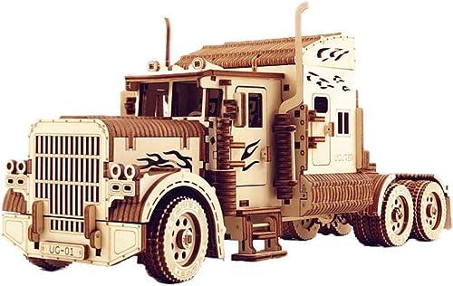 Lhcar 3D Holz Puzzle schwere LKW Modell sperrholz DIY Modell -  logische Holz Modell Junge Spielzeug