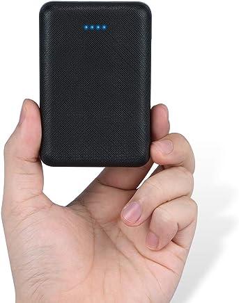 POSUGEAR Powerbank 10000mAh, New Dual Puertos Bateria Externa para Movil con indicador de Estado LED, Compatible con iPhone, iPad, Samsung Galaxy, Huawei Y Otros Smartphones (Negro)
