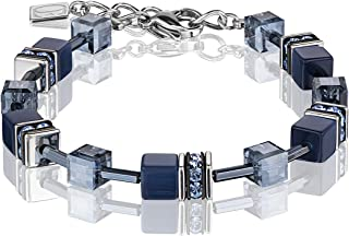 Coeur de Lion 4322/30-0722 - Pulsera para mujer, acero y cristales de Swarovski, color azul
