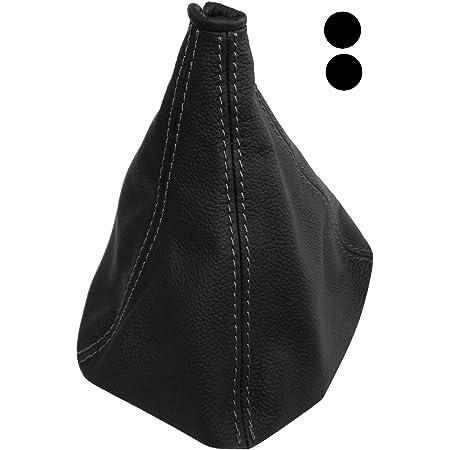 Aerzetix Schaltsack Schalthebelmanschetten Schalthebelmanschette Schaltbetatigungs Schwarze Farbe 100 Leder Nähte Schwarzen Auto