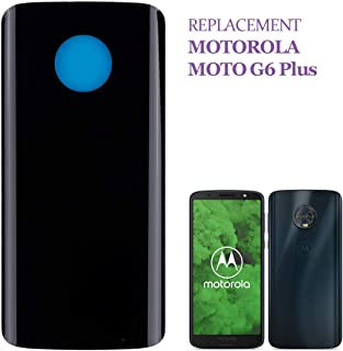 SWARK Replacement Battery Door Back Cover Compatible with Motorola Moto G6 Plus XT1926 XT1926-6 XT1926-7 XT1926-8 Replacem...