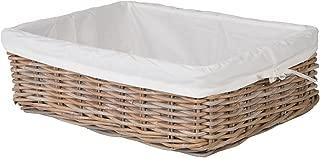 Kouboo Kobo Rattan Shelf, Underbed Removable Liner, Gray, Large Size Decorative Storage Basket