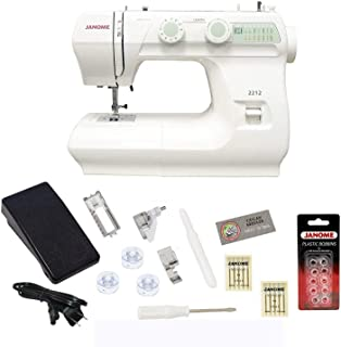 Janome 2212 Sewing Machine Includes Exclusive Bonus Bundle (Renewed)