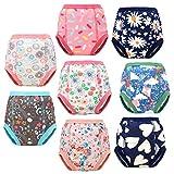 Flyish - 6 pantalones de entrenamiento para bebé, ropa interior de entrenamiento para niños, ropa interior para niños y niñas, pañales antigoteo de 2 a 5 años naranja 2 Años