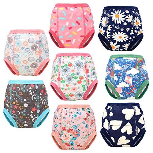 AolsteCell Packung mit 8 Baby Trainingshose Kleinkind Töpfchen Trainingshose Kinder Trainingswäsche Baby Unterwäsche Toilettentraining Unterwäsche