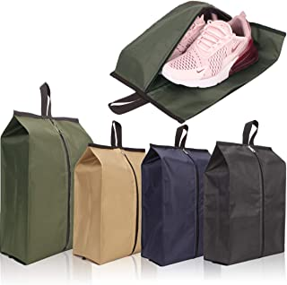 Achiou Shoe Bags for Travel with Men and Women Designed for travel, Zipper Closure Simple and Generous(Pack 4,Color As Shown)