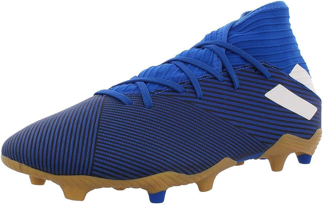 Adidas Mens Nemeziz 19.3 Fg Soccer Shoes Blue/White/Black 9.5