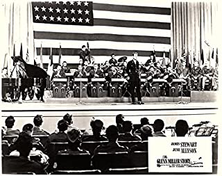 Glenn Miller Story Original 8x10 Lobby Card Orchestra Performs in Front of Flag
