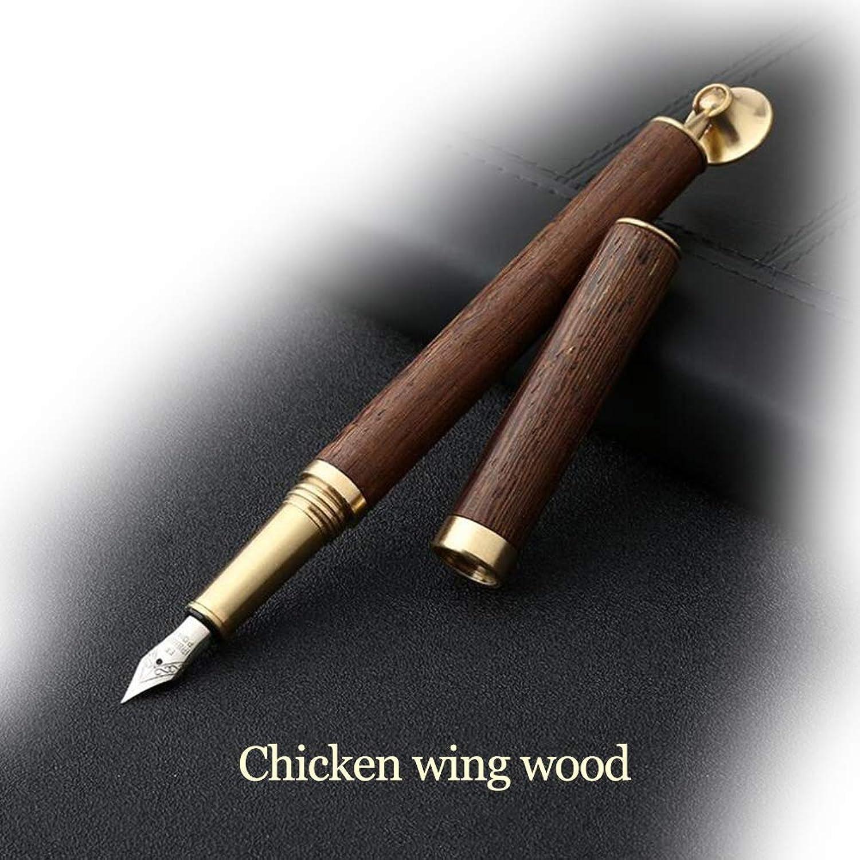 Messing und Sandelholz (Hühnerflügel Holz),füllfederhalter, hölzerner Geschäftsunterschrift-Stift B07NSL8HZ9 | | | Überlegene Qualität  695d0d