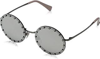 نظارة شمسية بتصميم دائري للنساء من فالنتينو