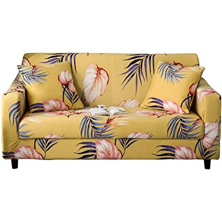 Universal Fitted Sofa Slipcover for Couch Furniture Protector HOTNIU Printed Stretch Sofa Cover 1 Piece Elastic Polyester Spandex Couch Covers 4 seat, Pattern LJJ
