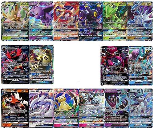 20 Poke Cards | 2 GX, V, OR EX Ultra Rares + 18 Reverse Holo | 100% Authentic Value Pack | Random Assorted Poke TCG Lot GG Box