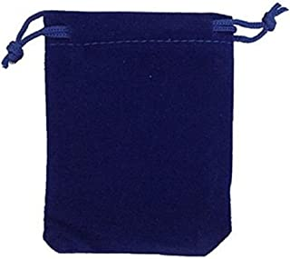 KUPOO 50 Pieces Wholesale Lot - Royal Blue Velvet Cloth Jewelry Pouches/Drawstring Bags 4