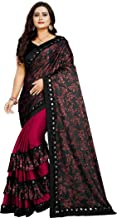 VAIVIDHYAM Women's Raw Silk Saree with Blouse Piece for Daily and Occasion Use